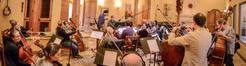The strings perform on <em>Shock and Awe</em>