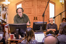 Jeff Beal conducts as director Rob Reiner watches