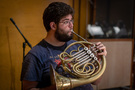 French horn musician Benjamin Jaber
