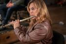 ______ on flute