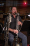 Donald Foster performs bass clarinet on <em>Tag</em>