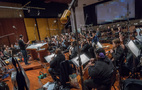 Composer/conductor Ramin Djawadi records with the orchestra