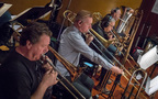 Trombonists Steve Holtman, Phil Keen, and Bill Reichenbach perform with Doug Tornquist on tuba