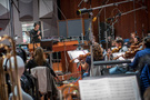 Composer/conductor Ramin Djawadi performs with the strings