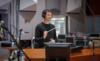 Composer/conductor Ramin Djawadi about to conduct