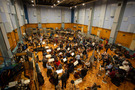 The orchestra performing the score to <em>How to Train Your Dragon: The Hidden World</em> at Abbey Road Studios