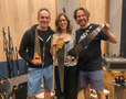 Composers Mychael and Jeff Danna with Janeen Heller and her musical saws