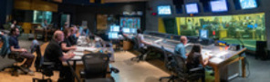Inside the control room at the Newman Scoring Stage