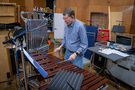 Greg Goodall performs the marimba