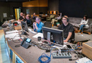 Director Cody Cameron, score coordinator Kryzstyna Newman, music editor Jim Harrison, assistant score mixer Matt Friedman, and ProTools recordist Vinny Cirilli