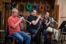 The trumpets: Jon Lewis, Rob Schaer and Tom Hooten