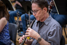 Chris Bleth performs on the oboe