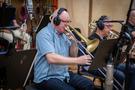 Alex Illes performs trombone