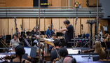 David Newman conducting the Hollywood Studio Symphony