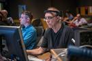 Assistant scoring mixer Matt Friedman and ProTools recordist Vinny Cirilli