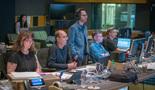 Score coordinator Krystyna Newman, music editor Jim Harrison, showrunner Jared Stern, assistant scoring mixer Matt Friedman and ProTools recordist Vinny Cirilli