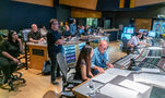 Inside the control room during the scoring sessions to <em>Green Eggs and Ham</em>