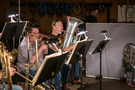 Doug Tornquist performs on tuba