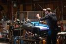 Composer/conductor Joseph Trapanese records a cue