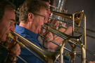 Steve Holtman performs on trombone