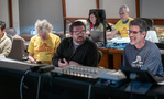 Composer Mark Mothersbaugh, additional music composer Tim Jones and additional score mixer Tom Hardisty