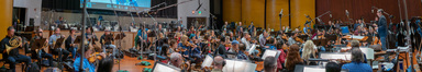 The orchestra records a cue for <i>The Lego Movie 2: The Second Part</i> with conductor/lead orchestrator Tim Davies