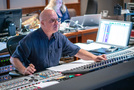 Scoring mixer Brad Haehnel checks levels