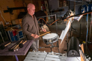 Percussionist MB Gordy performs on snare drum