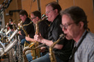 The saxes perform on <em>Shaft</em>