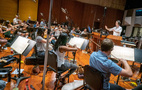 Composer/conductor Jeff Russo records with the Hollywood Studio Symphony