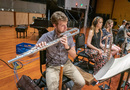 Ben Smolen performs on bass flute