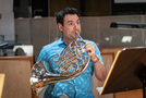 Dylan Hart performs on French horn