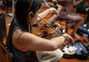 A violinist performs