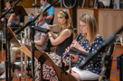 Sara Andon performs on flute with Leslie Reed on oboe