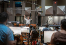 Composer/conductor Jeff Russo cues the Hollywood Studio Symphony
