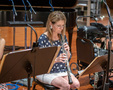Leslie Reed performs on oboe