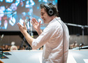 Composer Jeff Russo talks to the orchestra