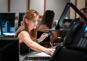 Orchestrator Amie Doherty makes edits to a cue
