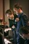 Composers Jeff Danna and Mychael Danna examine a cue
