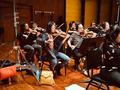 The violins perform on <em>Days of Our Lives</em>