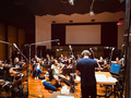 D. Brent Nelson conducts a string ensemble of the Hollywood Studio Symphony for <em>Days of Our Lives</em>