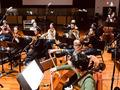 The cellos and violas performing on <em>Days of Our Lives</em>