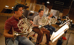 Dan Kelley, Brian O'Conner and Joe Meyer on French horns