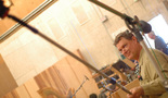 Stage engineer Tom Steel