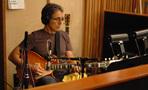 Guitarist Thom Rotella lays into a cue.