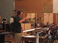 John Elg conducting the Family Guy Orchestra at the Newman Scoring stage