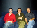 """Family Guy"" creator Seth McFarlane with composers Walter Murphy and Ron Jones"