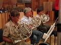 Marilyn Johnson, Joe Meyer and Rick Todd on French horns