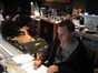 Stage recordist John Rodd concentrating hard