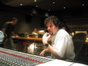 Michael Giacchino gives feedback on a cue